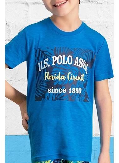 U.S. Polo Assn. U.S. Polo Assn Lisanslı Lacivert Erkek Çocuk Bermuda Takım Mavi